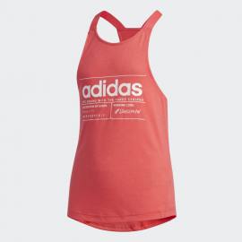 Camiseta tirantes adidas BB Tank fucsia niña