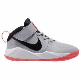 Zapatillas baloncesto Nike Team Hustle D9 gris/negro niño
