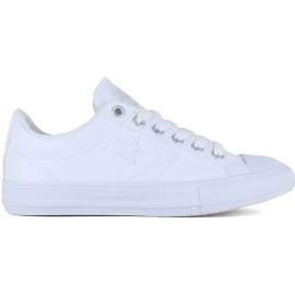 Zapatillas Converse Star Player Ev Ox piel blanco junior