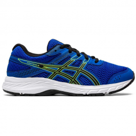 Zapatillas running Asics Contend 6 azul/negro junior