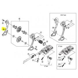 Portapoleas Interior Shimano Cambio M772 9V GS
