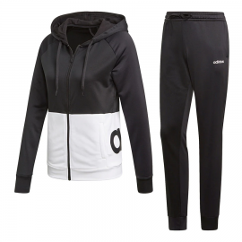 Chándal adidas French Terry Hood negro/blanco mujer