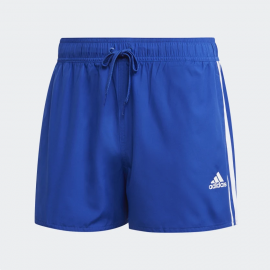 Bañador adidas CLX 3 bandas azul/blanco hombre