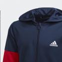 Sudadera adidas Training Equipment Hoody azul rojo junior