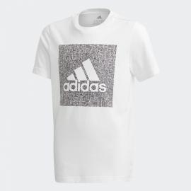 Camiseta adidas Must Haves Badge blanco negro junior