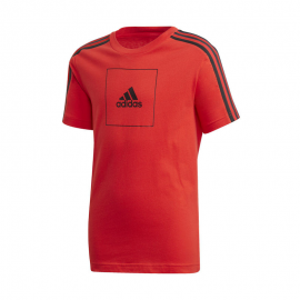 Camiseta adidas JB AAC rojo/negro junior