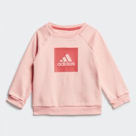 Chándal adidas 3 Bandas Fleece rosa bebé