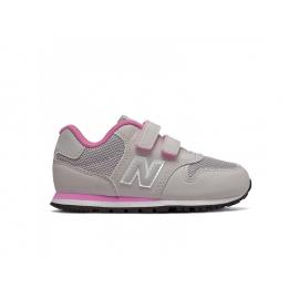 Zapatillas New Balance YV500RI gris/rosa niña