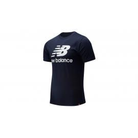 Camiseta New Balance Essentials Stacke azul hombre