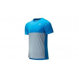 Camiseta running New Balance Accelerate SS azul/gris hombre