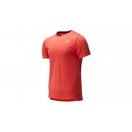 Camiseta running New Balance Accelerate SS naranja hombre
