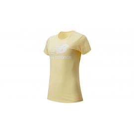 Camiseta New Balance Essential Stacked Logo amarillo mujer
