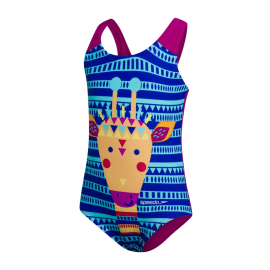 Bañador Speedo JungleGina Digital Applique azul niña