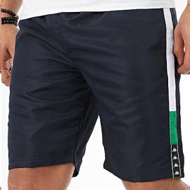 Pantalón corto Kappa Ivabien azul/blanco/verde hombre