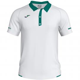 Polo tenis/pádel Joma Open II blanco/verde hombre