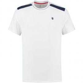Camiseta tenis K-Swiss Heritage Sport Classic blanco hombre