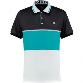 Polo tenis/pádel K-Swiss Hypercourt Express blanco/azul homb
