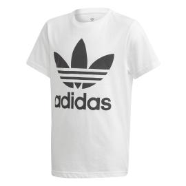 Camiseta adidas Trefoil blanco/negro junior