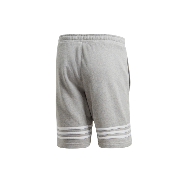 Pantalon Corto Adidas Outline Gris Blanco Hombre Deportes Moya