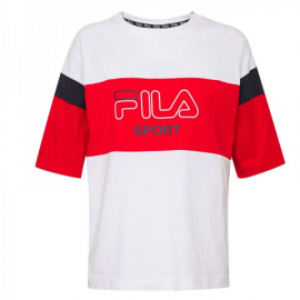 Camiseta Fila Lalette blanco/rojo mujer