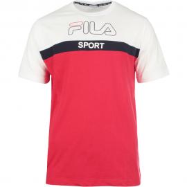 Camiseta Fila Lars blanco/rojo hombre
