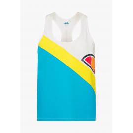 Camiseta Ellesse Deitrich blanco/azul/amarillo mujer