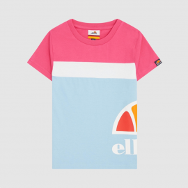 Camiseta Ellesse Xelio celeste/rosa/blanco niña