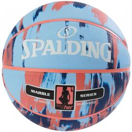 Balón baloncesto Spalding NBA Marble 4HER azul/multicolor