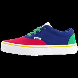 Zapatillas Vans Doheny azul rojo verde junior