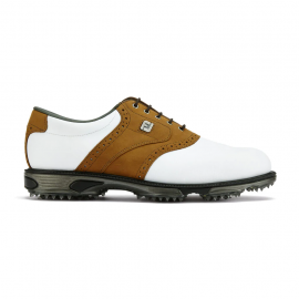 Zapatos golf Footjoy Dryjoys Tour blanco/marrón hombre