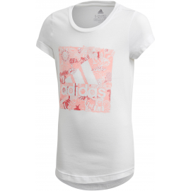 Camiseta adidas Must Haves Doodle BOS blanco niña
