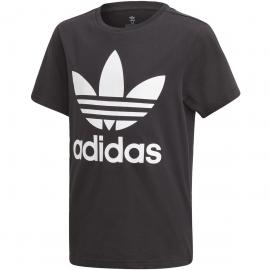 Camiseta adidas Trefoil negro/blanco junior