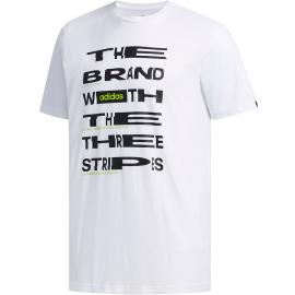 Camiseta adidas Dist FNT blanco/negro hombre