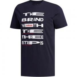 Camiseta adidas Dist FNT negro/blanco hombre