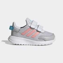 Zapatillas addias Tensaur RUN I gris/rosa bebé