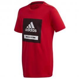 Camiseta adidas JB Bold rojo/negro/blanco junior