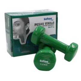 Juego pesas Softee Vinilo 1.5 kg verde