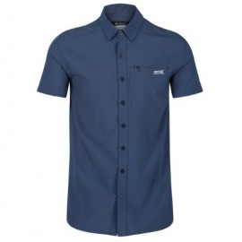 Camisa outdoor Regatta Kioga II azul hombre