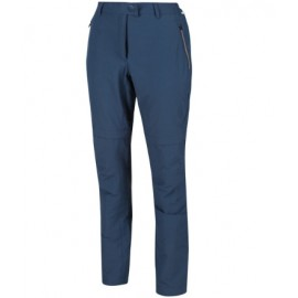 Pantalon desmontable Highton Regatta azul mujer