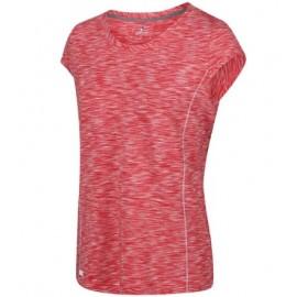 Camiseta senderismo Hyperdimension Regatta rojo mujer