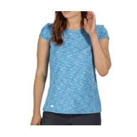 Camiseta senderismo Hiperdimension Regatta azul mujer