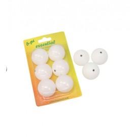 Pack 6 pelotas ping  pong softee blanco