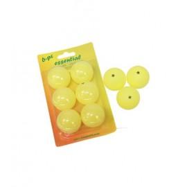 Pack 6 pelotas ping  pong softee amarillo