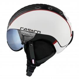Casco Sp-2 Snowball Visor blanco negro rojo  polarizado