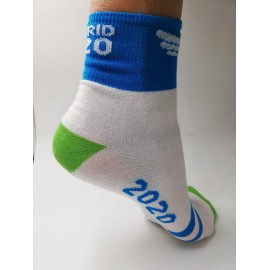 Calcetines running Madrid 2020 Brooks blanco unisex