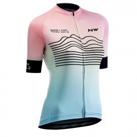 Maillot manca corta Northwave Blade mujer color rainbow