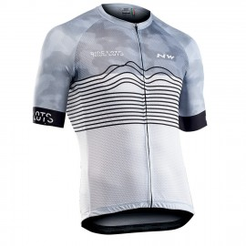 Maillot manca corta Northwave Blade mujer color blanco-negro