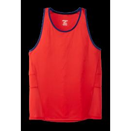 Camiseta running Brooks Stealth Tank rojo/azul hombre