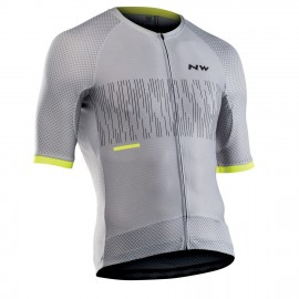 Maillot manga corta Northwave Storm Air gris-amarillo hombre