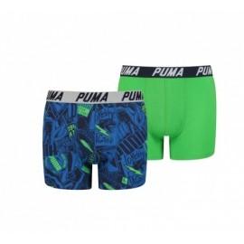 Bóxer Puma AOP 2pk azul/verde niño